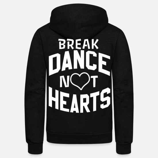 Rap Hoodies & Sweatshirts - BREAK DANCE SHIRT - Unisex Fleece Zip Hoodie black