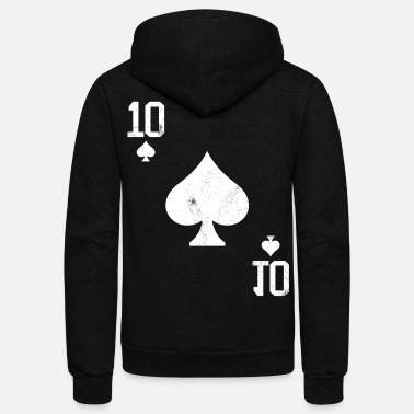 Pik Poker 10 Card Game Pik Vintage - Unisex Fleece Zip Hoodie