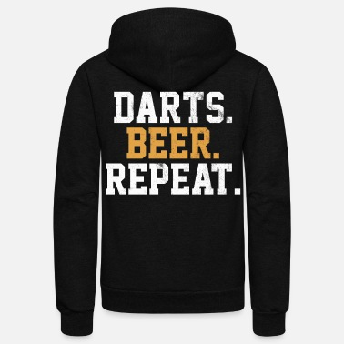 Bar Pub Dart Beer Bar Pub Vintage Arrow - Unisex Fleece Zip Hoodie