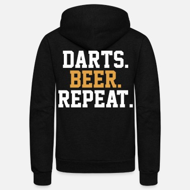 Bar Pub Dart Beer Pub Bar - Unisex Fleece Zip Hoodie