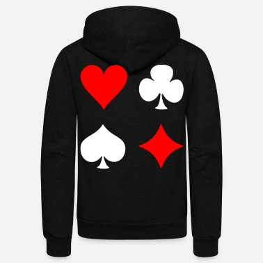 Pik Poker Cross Pik Heart Check - Unisex Fleece Zip Hoodie