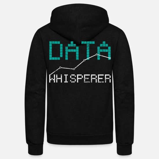 Data Hoodies & Sweatshirts - Data Analyst - Unisex Fleece Zip Hoodie black