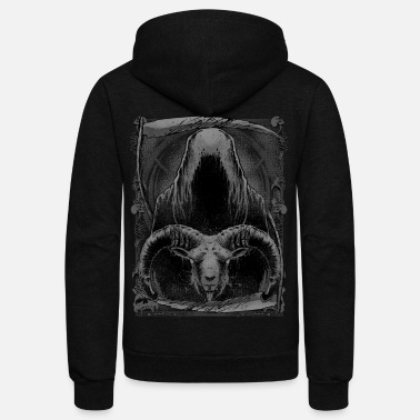 Grim Reaper Grim Reaper and Goat - Unisex Fleece Zip Hoodie
