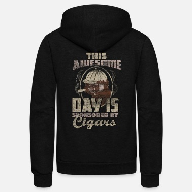 Whiskey Cigar tobacco pleasure gift idea - Unisex Fleece Zip Hoodie