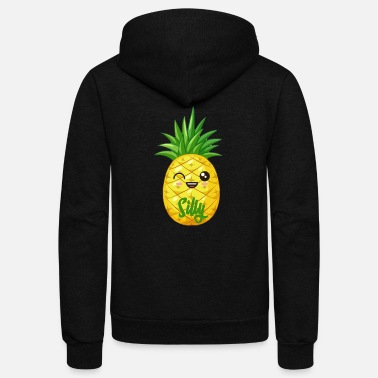 Silly Pineapple Silly - Unisex Fleece Zip Hoodie