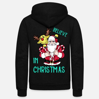 Believe Believe in Christmas - Unisex Fleece Zip Hoodie