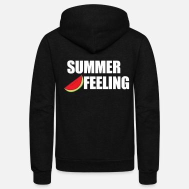 Feeling Summer Feeling Watermelon Summer Feeling Gift - Unisex Fleece Zip Hoodie