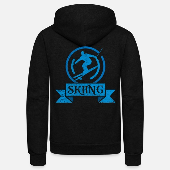 Ski Area Hoodies & Sweatshirts - Ski - Unisex Fleece Zip Hoodie black