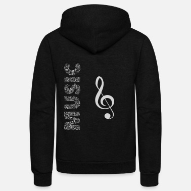 Music Symbols Music with Musical symbols - cool - Unisex Fleece Zip Hoodie