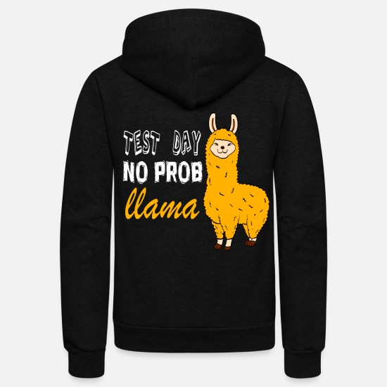 Camel Hoodies & Sweatshirts - Alpaca Shirt With An Image Of Cute Yellow Mustard - Unisex Fleece Zip Hoodie black