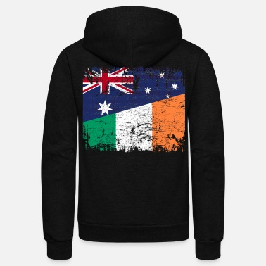 Ireland AUSTRALIA IRELAND FLAG - Half Irish - Unisex Fleece Zip Hoodie