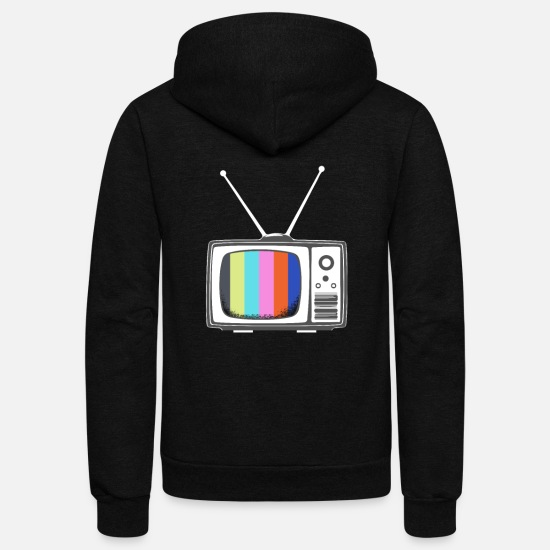 Tv Hoodies & Sweatshirts - TV Gift TV Television - Unisex Fleece Zip Hoodie black