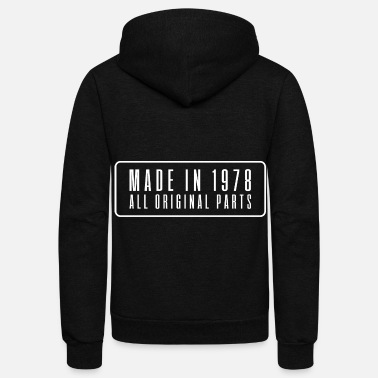 Date Of Birth Made in 1978 birthday present date year of birth - Unisex Fleece Zip Hoodie
