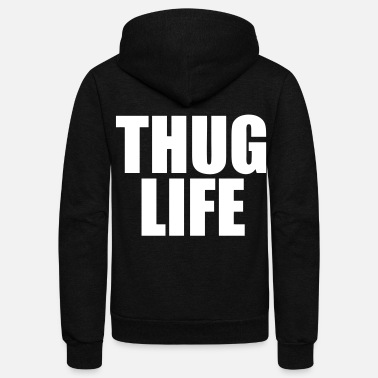 Rapper Thug Life - stayflyclothing.com - Unisex Fleece Zip Hoodie