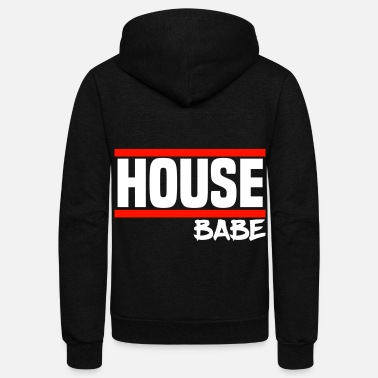 House House Music House Party House Babe - Unisex Fleece Zip Hoodie
