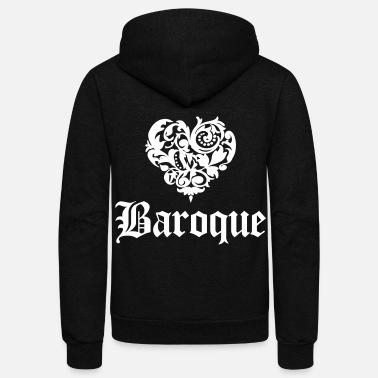 Baroque Love Baroque - Unisex Fleece Zip Hoodie