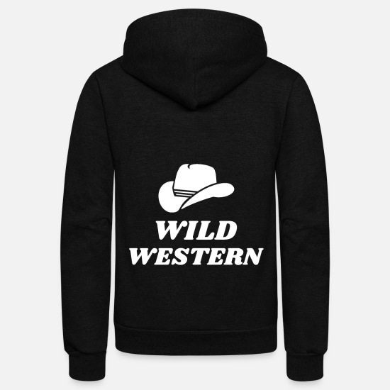 Gift Idea Hoodies & Sweatshirts - Wild Western Cowboy - Unisex Fleece Zip Hoodie black