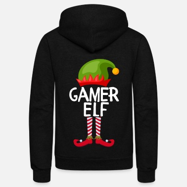 gamer Elf Family Matching Christmas - Unisex Fleece Zip Hoodie