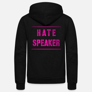 Hatespeaker text for nutrition and government - Unisex Fleece Zip Hoodie
