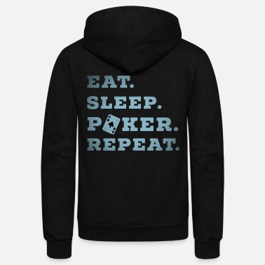 Pik Eat Sleep Poker Repeat Casino Pik Texas casino - Unisex Fleece Zip Hoodie