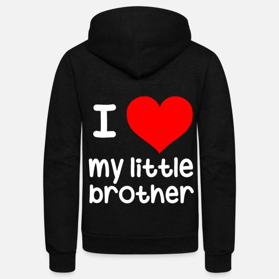 Brother Hoodies & Sweatshirts - I Love my little brother - Unisex Fleece Zip Hoodie black