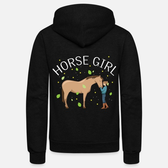 Farm Hoodies & Sweatshirts - Horse Girl Energy Affection, Happy And Dreamy - Unisex Fleece Zip Hoodie black