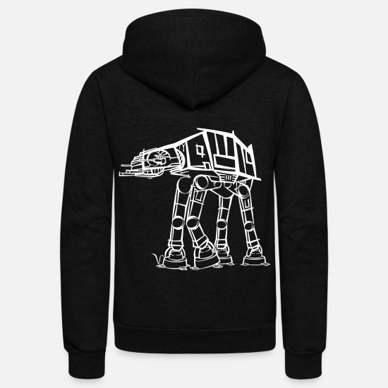 Geek Hoodies & Sweatshirts - AT-AT Imperial Walker [Artist Rendering 2] - Unisex Fleece Zip Hoodie black