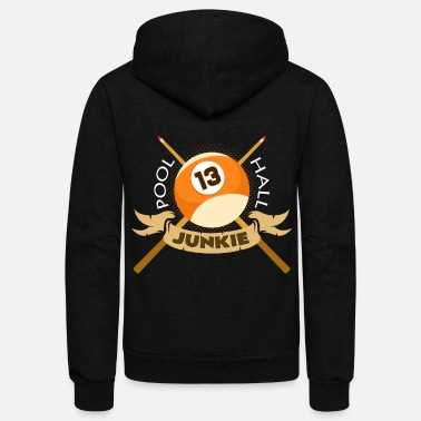 Billiard Ball Billiards - Unisex Fleece Zip Hoodie