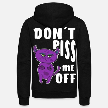Lady Boss Don´t piss me off cat - Unisex Fleece Zip Hoodie