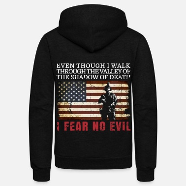 Military I FEAR NO EVIL MILITARY GIFT - Unisex Fleece Zip Hoodie
