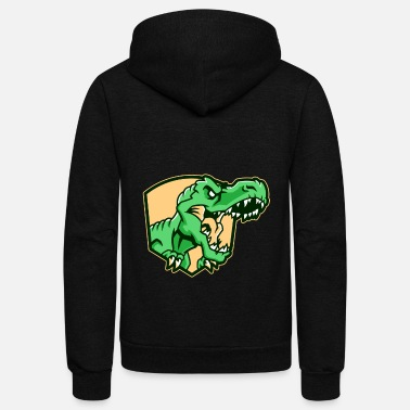Lizard Dinosaur Motif Lovers Gift Idea Design - Unisex Fleece Zip Hoodie