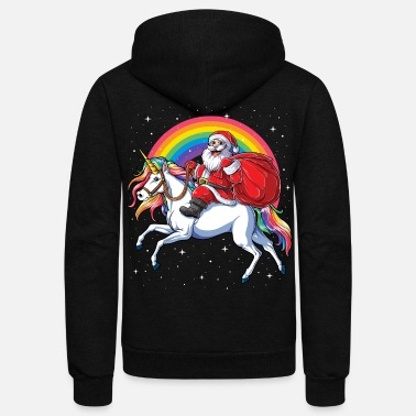 Christmas shirts for Kids Girls Women Santa - Unisex Fleece Zip Hoodie