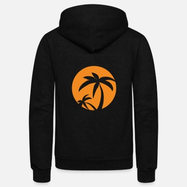 Palm Trees Paradise - palm trees - Unisex Fleece Zip Hoodie