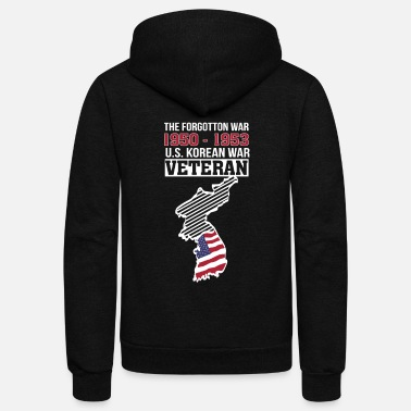 Korean War Veteran Korea War US Veteran Forgotton War - Unisex Fleece Zip Hoodie
