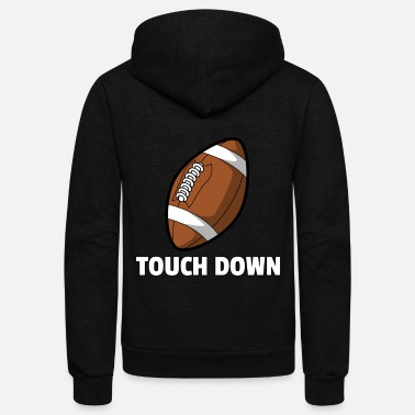 Funny American Football Footballing Player Funny Gift - Unisex Fleece Zip Hoodie