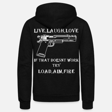 LIVE,LAUGH,LOVE - Unisex Fleece Zip Hoodie