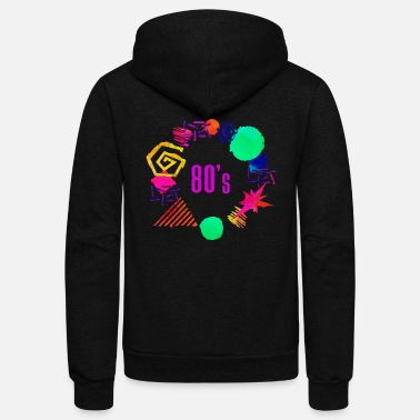 Eighties 80s retro 80's party vintage party retro - Unisex Fleece Zip Hoodie