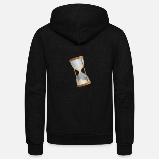 Keyword Hoodies & Sweatshirts - Hourglass Time - philosophy Present Idea - Unisex Fleece Zip Hoodie black
