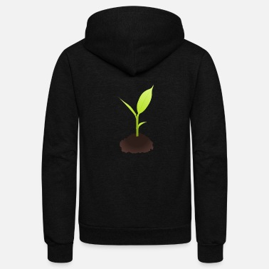 Plant Grounds Growing Plant - Unisex Fleece Zip Hoodie