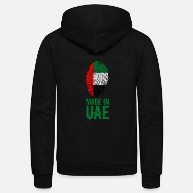 United Made In UAE / United Arab Emirates - Unisex Fleece Zip Hoodie