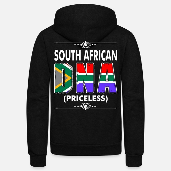 South Hoodies & Sweatshirts - South African DNA Priceless - Unisex Fleece Zip Hoodie black