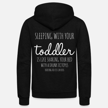 Toddler Sleeping with your Toddler - Unisex Fleece Zip Hoodie