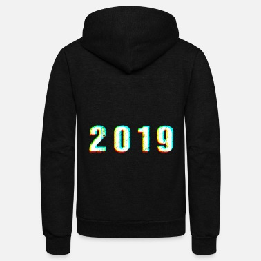 Jumpstyle 2019 Glitch vintage Birthday present - Unisex Fleece Zip Hoodie