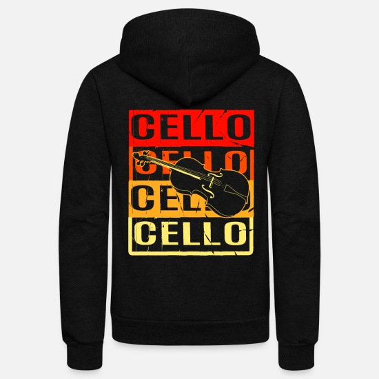 Double Bass Hoodies & Sweatshirts - Cello Double Bass Music Teacher Symphony Violin - Unisex Fleece Zip Hoodie black