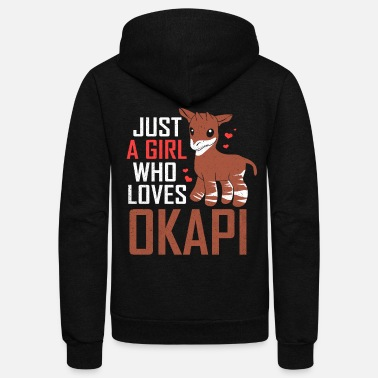 Congolese Girlfriend Okapi - Unisex Fleece Zip Hoodie