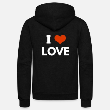 I Love i love love - Unisex Fleece Zip Hoodie