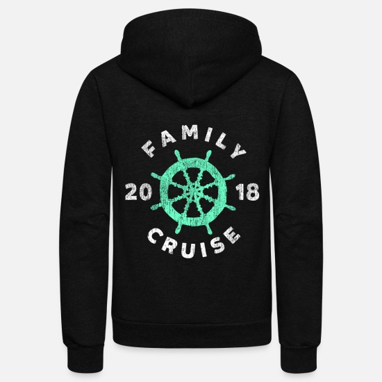 Cruise Hoodies & Sweatshirts - family cruise ship 2018 cruising boat vacation - Unisex Fleece Zip Hoodie black