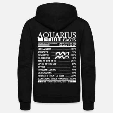Aquarius Aquarius facts shirt - Unisex Fleece Zip Hoodie