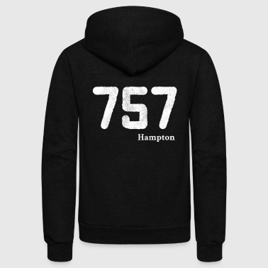 Area Code Area Code 757 Hampton Virginia - Unisex Fleece Zip Hoodie