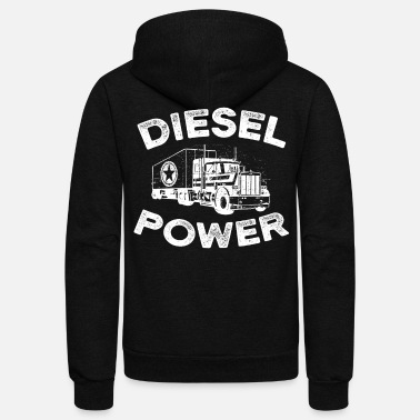 638a96d586b4b5 Diesel Power with big Truck - Unisex Fleece Zip Hoodie